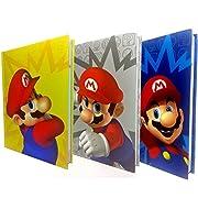 Torna a scuola con la linea di diari di Super Mario e il suo iconico baffo. Ogni diario 10 mesi non datato ha copertina morbida e pagine personalizzate con immagini dei personaggi del mondo di Super Mario ed è disponibile in tre varianti con ...
