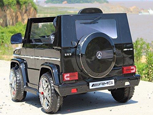 RC Kinderauto kaufen Kinderauto Bild 1: Trendsky Lizenz Mercedes Benz G65 Elektro Power mit 2X Power Motoren, Kinderauto Sportwagen Kinder Akku Fahrzeug Kinderfahrzeug Kid Auto (Schwarz)*