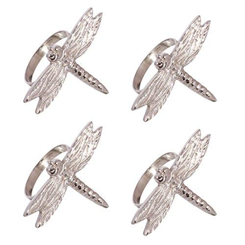 Set von vier Vintage-Stil Libelle Serviette Ringe–Jugendstil Geschirr perfekt für Tuch und...