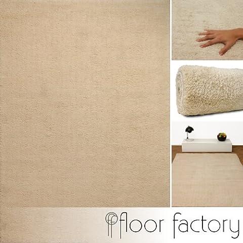 Alfombra Moderna Privilege beige 160x230 cm - alfombra blanda y suave de microfibra
