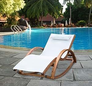 chaise longue fauteuil ber ante bascule transat bain de soleil rocking chair en bois charge. Black Bedroom Furniture Sets. Home Design Ideas