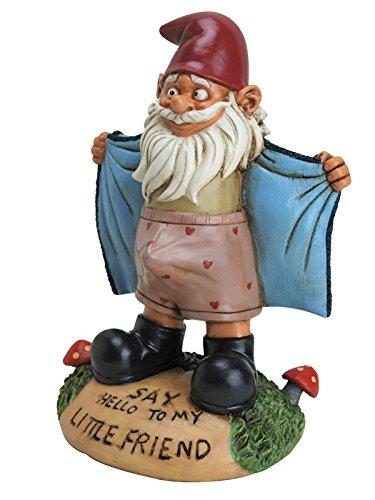 Frivoler Gartenzwerg Deko Figur bunt 15x19x27cm