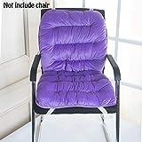 chengyu Keep Warm Weiche Rückseite Kissen und Sitzkissen, Relief Druck von ihren Rücken, perfekt für Computer/Bürostuhl, Autositz, Liege etc. violett