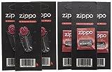 Zippo Docht und Zündstoff für Zippo-Feuerzeuge, je 3 Stück, 6er-Pack