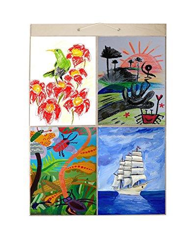 Bild Taschen Mega (Größe AA) hängen Foto Galerie-80Fotos in 40Taschen (wendbar) flach Pack, Plastik, Transparent, Art (A4) - 6 A4 Pockets -