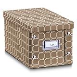Zeller 17780 CD-Box Texture, Pappe, L 16.5 x B 28 x H 15 cm, cappuccino