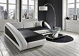 SAM® Ecksofa Ciao Sofa schwarz - weiß - weiß 250 x 270 cm Ottomane links designed by Ricardo Paolo® exklusiv L - Form