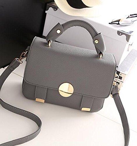HQYSS Borse donna Marea spalla mano Messenger Bag semplice Wild quadrato piccolo pacchetto , circle deep purple bag mirror round dark grey bag