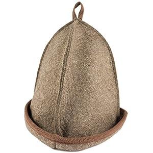 """DIYer® – Premium Saunahut – Farbe""""braun"""" – Für kleinen Kopfumfang: Hut fällt sehr klein aus! – inkl. Sauna-Ratgeber – 100% Baumwolle – Filz Saunamütze"""
