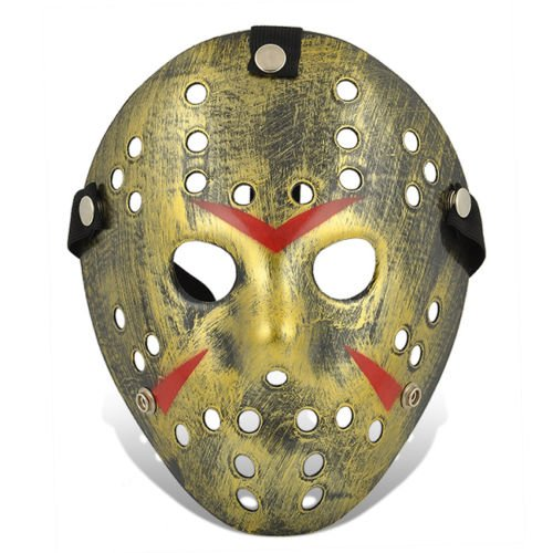 Ultra Fancy Dress Jason X vS Freddy Halloween Friday the 13th Hockey Masks in Silver Gold White Bronze Colours Adults PVC Quality Mask with velcro elasticated strap Face Mask Fancy Halloween Costumeplay by Ultra (1 Mask)