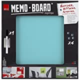 Brio 34556 Memo Board Tableau MAGNETIQUE Pastel 40X40 cm Verre Turquoise 4x40x40 cm