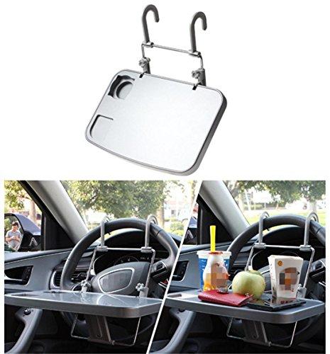 Auto-Lenkrad-Rücksitz-Plastik-Schreibtisch-Organisator, Edelstahl-Anhänger Faltbarer multi Tabelle für Selbst-SUV Mahlzeit-Handy-Geldbeutel-Getränk-Regenschirm-Speicher -