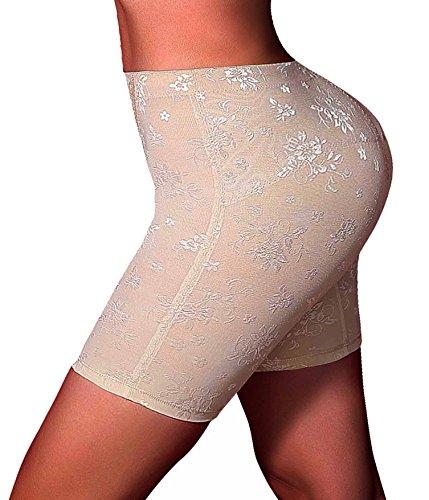 Beute Shaper (Butt Lifter Shapewear Unterwäsche Panties Enhancer Boyshorts Taille Erweiterer Hose (XX-Large, Beige))
