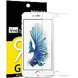 Verre Trempé iPhone 6 PLUS / 6S PLUS, NEWC® Film Protection en Verre trempé écran Protecteur - ANTI RAYURES - SANS BULLES D'AIR -Ultra Résistant Dureté 9H Glass Screen Protector pour 6 PLUS / 6S PLUS