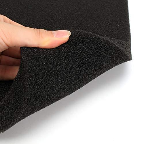 Be82aene Schwarz Aquarium Biochemical Baumwolle Filterschwamm Aquarium Schwamm Pads 50x50x2cm Aufzeichnung (Farbe : #1)