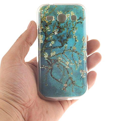 Galaxy Core Plus G350 hülle,MCHSHOP Ultra Slim Skin Gel Schlank TPU Case Schutzhülle Silikon Silicone Schutzhülle Case Back Cover für Samsung Galaxy Core Plus (GT-G3500 / SM-G350 / G3502) - 1 Kostenlo mandel blumen baum mit blauem hintergrund