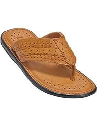 Kolapuri Centre Tan Color Casual Slip On Slipper For Men's