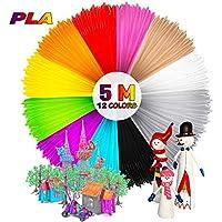 mture 3d printfi Lament, Ink filamento PLA Filamento lápiz 3d filamento para impresora 3d de lápiz 3d Pen lápiz 3d impresora 3d 12pcs