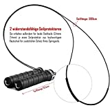 Springseil Speed Rope von BeMaxx Fitness + Trainingsguide & Extra Seil – 2 verstellbare Stahlseile, Profi Kugellager & Anti-Rutsch Griffe - 4