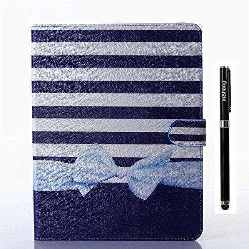 inShang iPad Custodia per Apple IPAD 2 iPad 3 iPad 4 Cover case in pelle (Fatto A Mano Fiore Di Carta Semi)