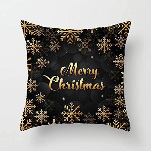 YBZTHK Weihnachtskissen Digitaldruck Kissen Kissen Nach Hause 45 * 45Cm Xmas15 (2)