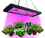 Grow Light 40W, Panel Full Spectrum UV+IR+White+Red+Blue 75LEDs , RINBO Led Grow Light with Daisy Chain for Greenhouse and Indoor Plants, No Noise, Thin, Aluminum with Good Heat Dissipation, for House/Gardening/Hydroponic/Aquatic ,Vegetable,Flower,Seedling