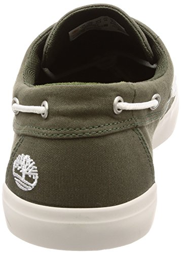 Timberland Herren Newport Bay 2-Eye Canvas Mokassin Grün (Grape Leaf Canvas A58)