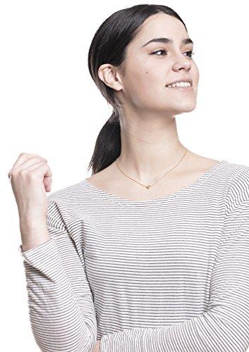 Happiness Boutique Damen Kette mit Herz Anhänger | Minimalist Kette mit Herz Charm Titanschmuck mit Gold Überzogen