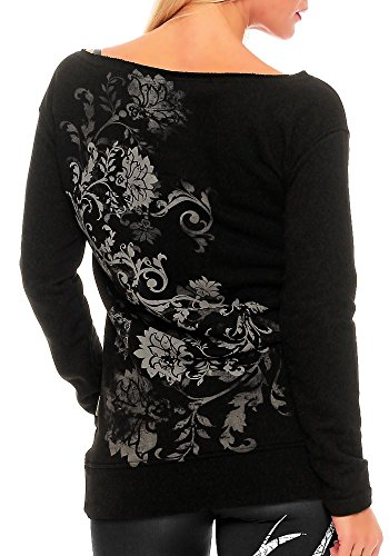 Yakuza Femme Hauts / Pullover One Comes Cord Noir