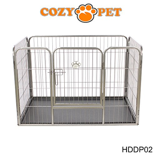 Heavy Duty Puppy Playpen by Cozy Pet - Medium Enclosure Dog Cage Dog Run or Crate Whelping Box with Heavy Duty ABS Floor HDDP02. (We do not ship to Northern Ireland, Scottish Highlands & Islands, Channel Islands, IOM or IOW.)