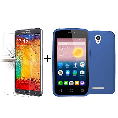 tbocr-pack-blue-tpu-silicone-gel-case-tempered-glass-screen-protector-for-alcatel-one-touch-pixi-fir