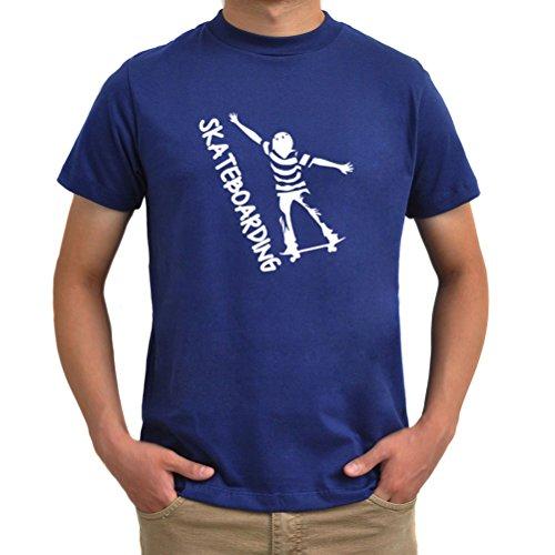 Maglietta Skateboarding Blu acciaio