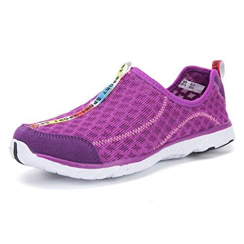 DoGeek Chaussures Aquatiques Homme Femme Chaussures de plage- water shoes Pour Sport Aquatique ,pour tous les sports de plage et d'eau - Respirant été chaussons Violet