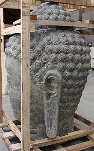 Oriental Galerie Buddha Kopf Groß Stein 120 cm - 5