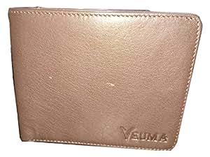 Veuma Men's Casual Brown Genuine Leather Wallet