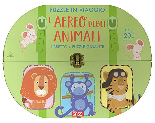 L'aereo degli animali. Puzzle in viaggio. Ediz. a colori. Con puzzle