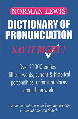 Dictionary of Pronunciation Image