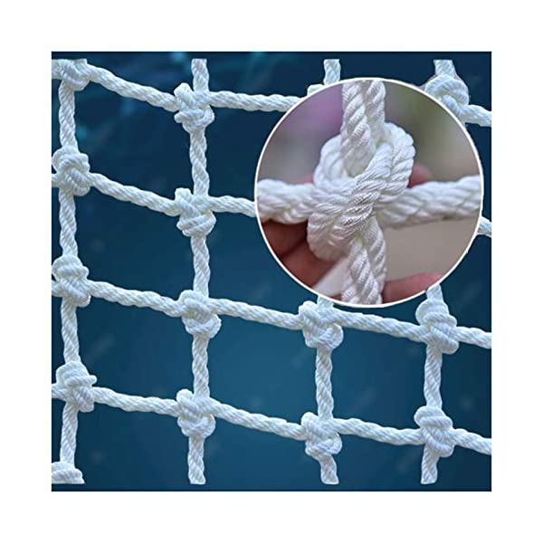 "XXN White Climbing Net,rope Ladder Child Climbing Tree Protection Net Adult Outdoor Swing Ladder Toy Playground Racecourse Fence Nylon Load Fixed,Cargo Rope Ladder Truck Deck Grid Heavy Goods Nets XXN ❤Auxiliary image display uses only scene reference,the main picture color is main.The safety net has a diameter of 14mm(0.55"") and a mesh size of 12cm(4.72""). The mesh edge is strengthened, the mesh is even, the pulling force is strong, the sunscreen, the weatherproof, the firm and the wearable. ❤The rope net is mainly used for climbing, not only for ordinary children and adults, but also for balconies, stairs, pets, children, gymnasiums, playgrounds, gardens, schools or sports clubs, and isolating truck cargo. It prevents objects from falling and ensures the safety of pets, children, etc. ❤Safety Tip: Regularly check the safety net for safety hazards caused by various external or human factors to protect safety. 1"