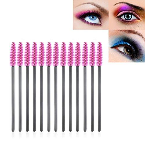 Glomixs Pinceau de Maquillage,100 PCS Disposable Eyelash Mini Brush Mascara Wand Applicator Spooler Makeup