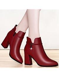 KHSKX-Round Metri Brutto Documentario Scarpe Femminili Profondo High Heeled Stile Coreano Del Vento Scarpe Stile...