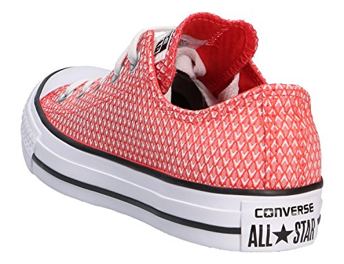 Converse All Star Ox Femme Baskets Mode Rouge Orange