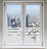 INDIGOS UG Sonnenschutz Glasdekor Schmetterlinge Dekorfolie Lilie Sichtschutz Fensterfolie Calla satiniert blickdicht - 1200mm Breite x 500mm Höhe - auch mit Individueller Breite