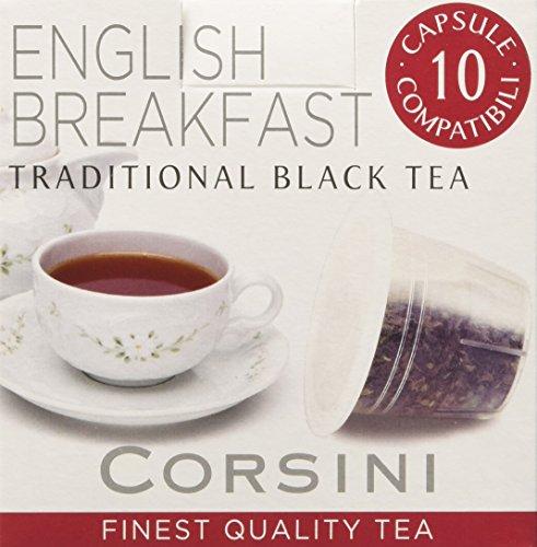 Caffè Corsini Caps Compatibili Nespresso English - 12 confezioni da 10 capsule - Totale 120 Capsule
