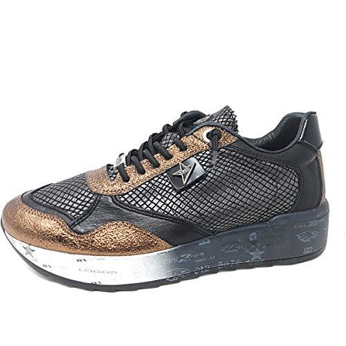 Cetti Damen Sneaker C848 XL Crater schwarz 711186