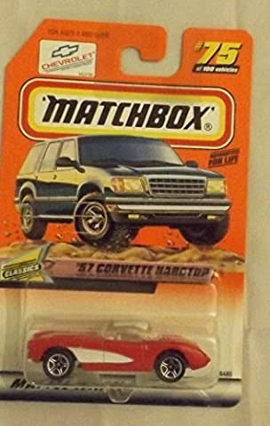 Matchbox 1998-75 of 100 Classics '57 Corvette Hardtop 1:64 Scale by Mattel