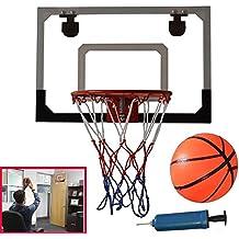Azul LIOOBO Juego Baloncesto ni/ños Canasta Baloncesto Tablero Juego al Aire Libre y Interior Incluyendo inflador y Pelota