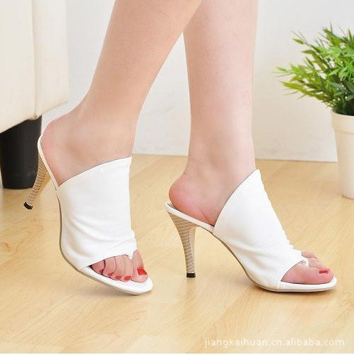 ZYUSHIZ Frau Video dünn Die High-Heel Schuhe der Abteilung Peace-Keeping Operations Ordner Outdoor Sandalen Hausschuhe 38EU