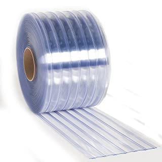 Aleco 171130 Clear-Flex II PVC Standard Scratch-Guard Ribbed Strip Door Bulk Roll, 150' Length x 8