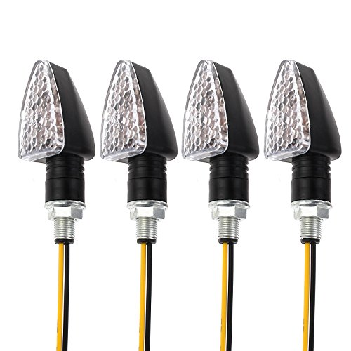 4 indicatori di direzione impermeabili, indicatori di direzione a 15 LED, mini indicatori di direzione per moto e moto