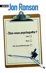 Etes Vous Psychopathe Jon Ronson Babelio